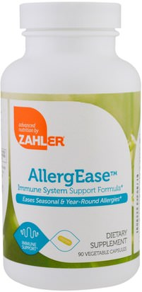 Suplementos, Salud, Alergias Zahler, AllergEase, Immune System Support Formula, 90 Vegetable Capsules