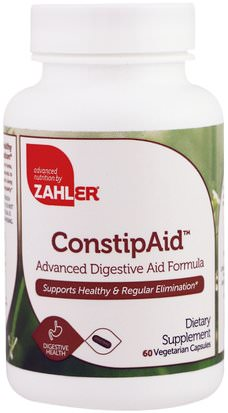 Suplementos, Enzimas, Salud Zahler, ConstipAid, Advanced Digestive Aid Formula, 60 Vegetarian Capsules