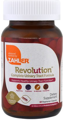 Hierbas, Arándano Zahler, Revolution, Complete Urinary Tract Formula, 60 Vegetarian Capsules