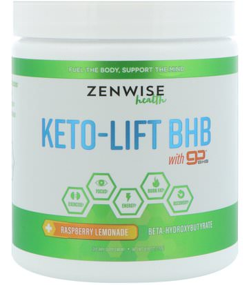 Salud, Energía, Deportes Zenwise Health, Keto-Lift BHB, Beta-Hydroxybutyrate, Raspberry Lemonade, 8.18 oz (232 g)