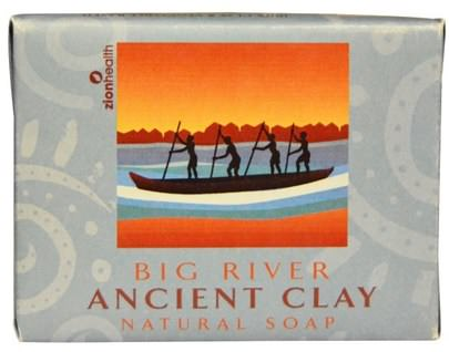 Baño, Belleza, Jabón Zion Health, Ancient Clay Natural Soap, Big River, 10.5 oz (300 g)