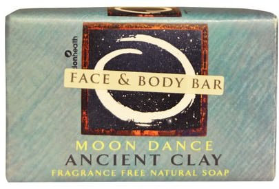 Baño, Belleza, Jabón Zion Health, Ancient Clay Natural Soap, Moon Dance, Fragrance Free, 6 oz (170 g)