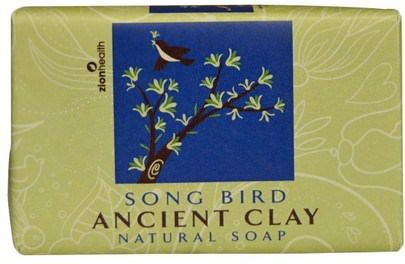 Baño, Belleza, Jabón Zion Health, Ancient Clay Natural Soap, Song Bird, 6 oz (170 g)