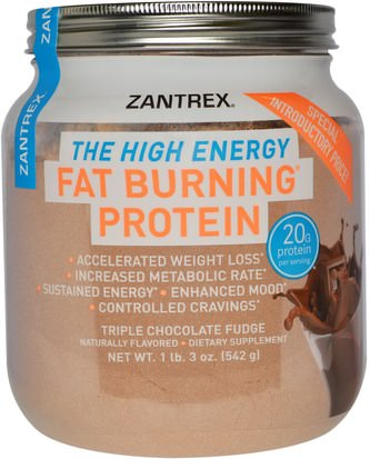 Suplementos, Proteínas, Quemadores De Grasas Zoller Laboratories, Fat Burning Protein Powder, Triple Chocolate Fudge, 1 lb 3 oz (542 g)