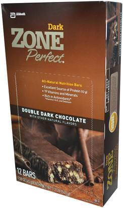 Suplementos, Barras Nutricionales ZonePerfect, Dark, All-Natural Nutrition Bars, Double Dark Chocolate, 12 Bars, 1.58 oz (45 g) Each